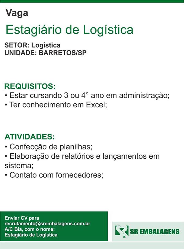 Estagiário de Logística - Faculdade Barretos dfb3d7155eba5